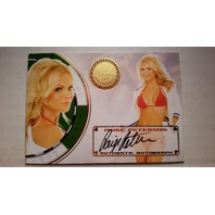 Paige Peterson 2013 Bench Warmer Vegas Baby Autograph Auto on Card #34