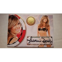 Jasmine Dustin 2012 Bench Warmer Vegas Baby Autograph Auto on Card #21