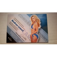 Andrea Lowell 2011 Bench Warmer Hobby Autograph Auto on Card