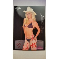 Juliette Dugas 2005 Bench Warmer Autograph Auto On Card #34 Playboy Red Ink