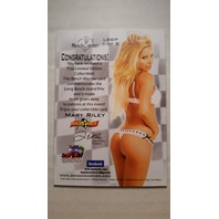 Mary Riley 2013 Bench Warmer Toyota Grand Prix Promo #1 Rare Model Actress