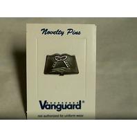 Vanguard Navy Ball Cap Device Pin Mess Culinary Specialist (CS) (MS) - oxidized