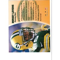 1997 Leaf Authentic Signature 8x10 Card Dorsey Levens Green Bay Packers Auto