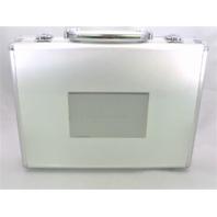 2017 Panini Flawless Collegiate Football Empty Silver Briefcase Case