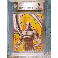 ISRAEL ARTEAGA 2013 Fleer Retro Marvel Sketches #36 1/1 Scorpion Graded 9 Mint