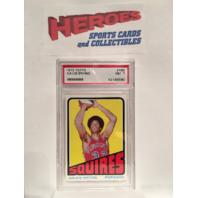 Julius Erving Rookie 1972 Topps #195 PSA Graded NM 7 NBA HOF