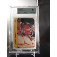Michael Jordan 1986-87 Fleer Rookie Sticker RC#8 Beckett Graded BGS 9 MINT Bulls