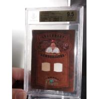 Mike Schmidt 2005 Classics Legendary Lumberjacks Bat Jersey /50 BGS 9.5 POP=1