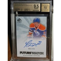 RYAN NUGENT-HOPKINS 2011-12 UD SP Authentic Future Watch Rookie Card BGS 9.5 /10