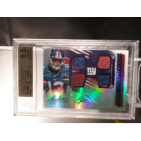 Odell Beckham Jr 2014 Absolute Rookie Premiere Material Jersey Auto /20 BGS 9.5