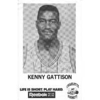 KENNY GATTISON Charlotte Hornets Autograph Auto Reebok B&W Promo  Photo TO MIKE