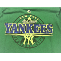 Majestic New York Yankees Green T-Shirt Size L MLB Baseball St Patrick Irish