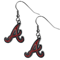 Atlanta Braves Dangle Fish Hook Earrings NEW in Package MLB Licensed