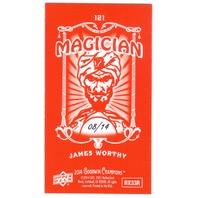 JAMES WORTHY 2014 Upper Deck Goodwin Champions 8/14 Mini Foil Magician Red #121