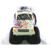 MADUSA Monster Jam Auto Signed Plush Puff White Monster Truck 2002? 2007?