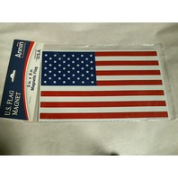 "Annin U.S. Magnetic Flag Decoration - Measures 5""x8"" -  Made in USA - cars"