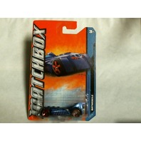 Matchbox 2011  MBX City Batmobile 5/10 25/120 Blue Rare Batman Mattel W4886