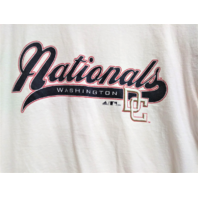 Adidas Washington Nationals White & Navy Blue 3/4 Sleeve T-Shirt Size L Baseball