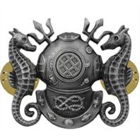 Vanguard Navy Regulation Size Master Diver Badge Oxidized