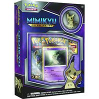 Pokemon TCG Mimikyu EX Pin Collection Sealed Box + 2 Random Booster Packs