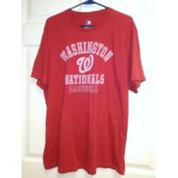 MLB Genuine Washington Nationals Ring Spun Soft Red T-Shirt Size XL Baseball