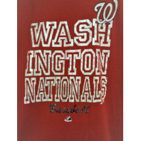 Majestic Washington Nationals Red Graphic Short Sleeve T-Shirt Size L Baseball