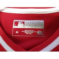 True Fan Washington Nationals Red Embroidered Jersey Shirt Size M MLB Baseball
