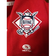 True Fan Washington Nationals Red Embroidered Jersey Shirt Size M MLB Baseball