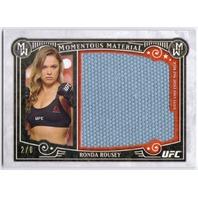 RONDA ROUSEY 2016 Topps Knockout UFC 157 MMA 2/8 Jumbo Mat Relic Card
