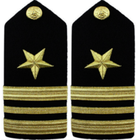 Vanguard Navy Shoulder Board Male Line Officer Lieutenant Commander Insignia