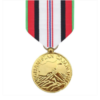 Vanguard Full Size Afghanistan Campaign Military Award Medal- 24k Gold Plated
