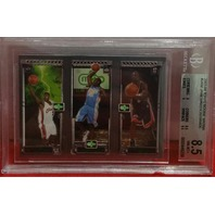 Lebron JAMES/Carmello ANTHONY/Dwayne WADE 2003-04 Topps Rookie RC Matrix BGS 8.5