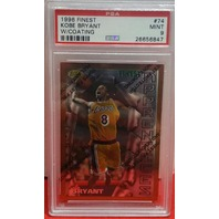KOBE BRYANT 1996-97 Topps Finest w/coating Apprentices RC 74 PSA Graded 9 Lakers