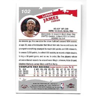 LEBRON JAMES 2005-06 Topps Chrome #102 Cleveland Cavaliers Dunk