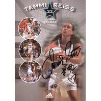 TAMMI REISS Utah Starzz Autograph Auto Adidas Promo 5 x 7 Card WNBA