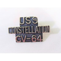 USS Constellation CV-64 Ship Name Lapel Pin