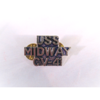 USS Midway CV-41 Ship Name Lapel Pin