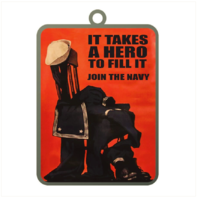 Vanguard ORNAMENT NAVY POSTER IT TAKES A HERO