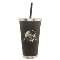 "Vanguard NAVY CPO SPIRIT CUP BLACK/SILVER WITH CPO LOGO ""ASK THE CHIEF"""