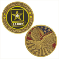 Vanguard ARMY COIN: UNITED STATES ARMY RETIRED