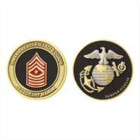 Vanguard MARINE CORPS COIN: SERGEANT MAJOR 1.75""