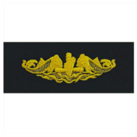 Vanguard NAVY EMBROIDERED BADGE: SUBMARINE OFFICER - EMBROIDERED ON COVERALL