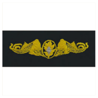 Vanguard NAVY EMBROIDERED BADGE: SUBMARINE MEDICAL - EMBROIDERED ON COVERALL