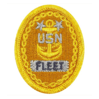Vanguard NAVY EMBROIDERED BADGE: E9 FLEET - EMBROIDERED ON COVERALL