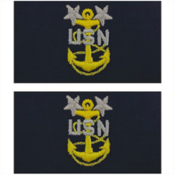 Vanguard NAVY EMBROIDERED COLLAR DEVICE: E9 CPO: MASTER EMBROIDERED ON COVERALL