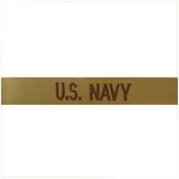 Vanguard NAVY TAPE: U.S. NAVY - EMBROIDERED ON DESERT