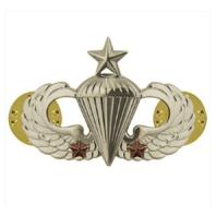 Vanguard ARMY BADGE: SENIOR COMBAT PARACHUTE SECOND AWARD - MIRROR FINISH