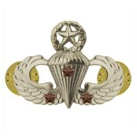 Vanguard ARMY BADGE: MASTER COMBAT PARACHUTE THIRD AWARD - MIRROR FINISH