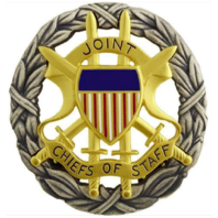 Vanguard ARMY IDENTIFICATION BADGE: JOINT CHIEFS OF STAFF - BLOUSE SIZE OXIDIZED