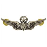 Vanguard ARMY BADGE: MASTER AIRCRAFT CREWMAN: AIRCREW - SILVER OXIDIZED